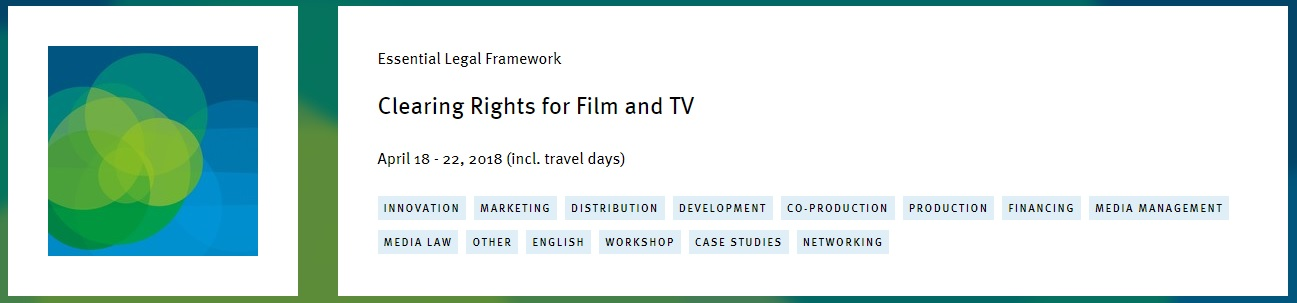 "The prestigious Erich Pommer Institut returns to Mallorca with the course ""Clearing Rights for Film and TV"""