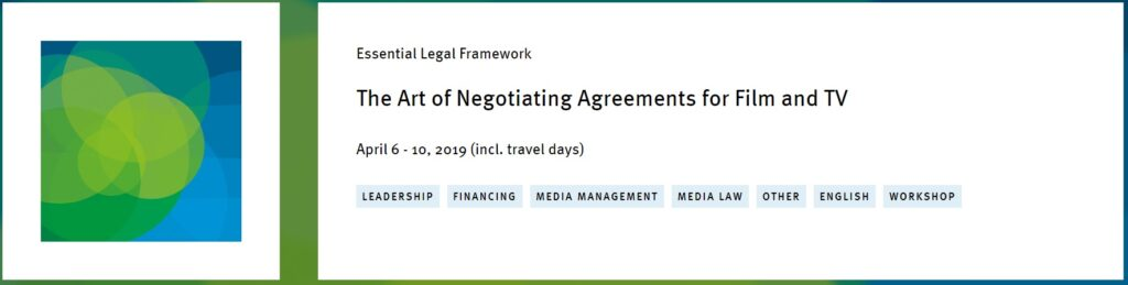 "The prestigious Erich Pommer is back to to Mallorca with the course ""The Art of Negotiating Agreements for Film and TV"""