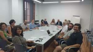 The Regional Minister of Tourism and Sports, Andreu Serra, meets for the first time with the Mallorcan audiovisual sector