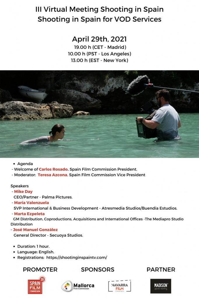 La Mallorca Film Commission col·labora amb Spain Film Commission organitzant un panell online sobre rodar a Espanya per a les plataformes vídeo a la carta